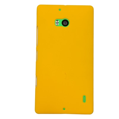 Cubix Ultra Thin Rubberized Matte Hard Back Cover For Nokia Lumia 930 (Yellow)