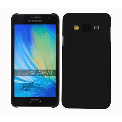 Cubix Ultra Thin Rubberized Matte Hard Back Cover For Samsung Galaxy A3 (Black)
