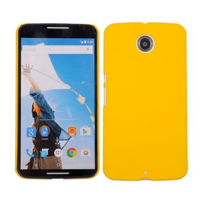 Cubix Ultra Thin Rubberized Matte Hard Back Cover For Google Nexus 6 (Yellow)
