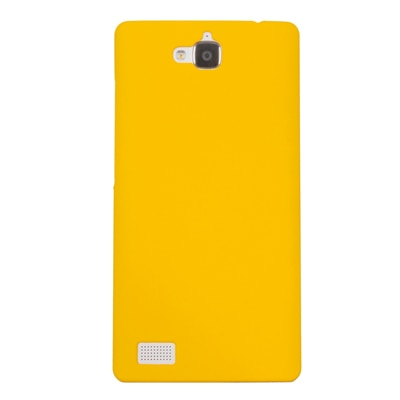 Cubix Ultra Thin Rubberized Matte Hard Back Cover For Huawei Honor 3C (Yellow)