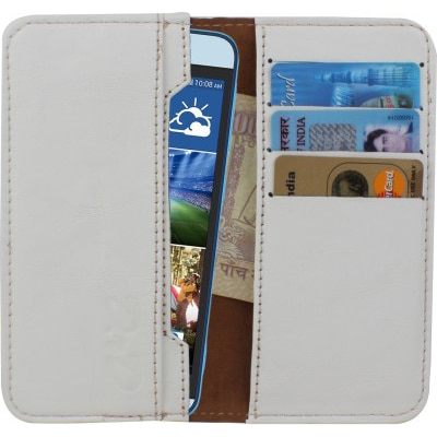 D.rD Pouch For Karbonn A21 (White)