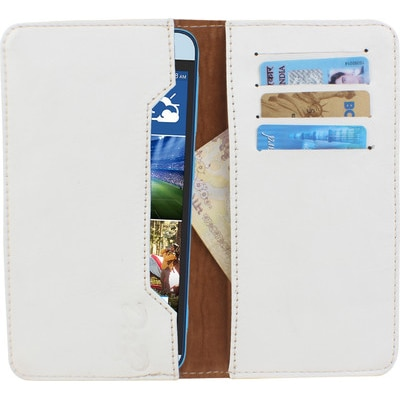D.rD Pouch For Micromax Canvas Viva A72 (White)