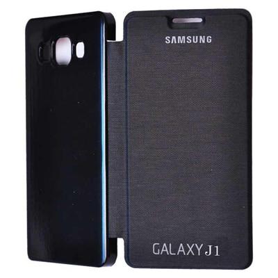 Evoque Flip Cover For Samsung Galaxy J1 (Black)