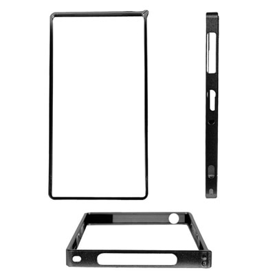 Fuson Ultra Thin 0.7 Mm Aluminium Metal Bumper Case For Sony Xperia Z1 C6902 C6903 C6906 L39H (Black)
