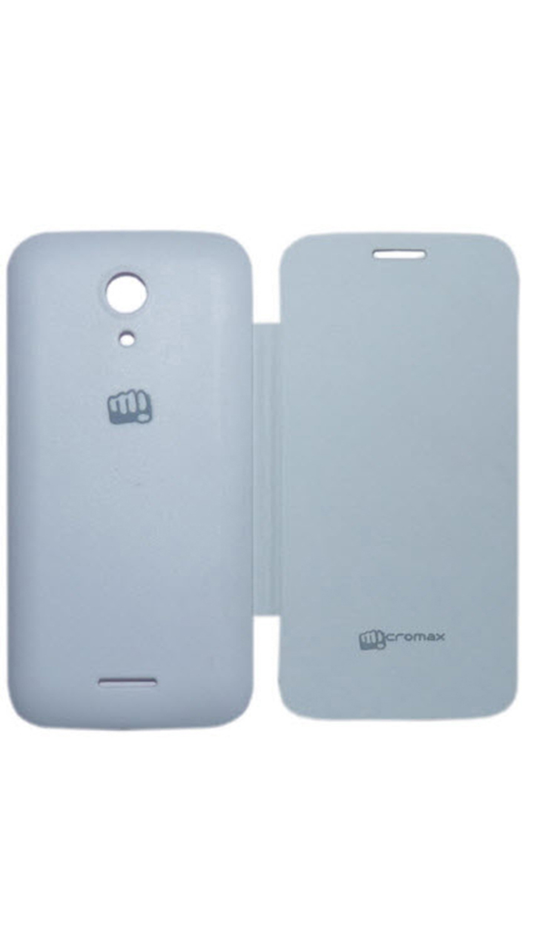 High Quality Flip Cover For Micromax A116 Canvas HD  White  available at Paytm for Rs.149