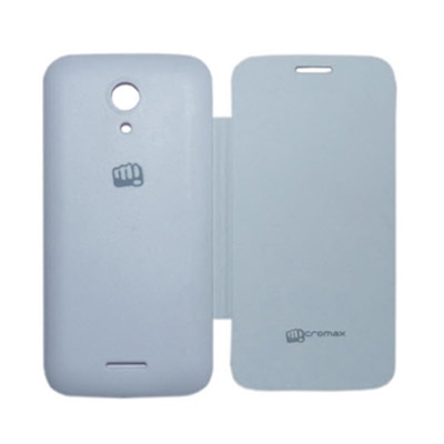 High Quality Flip Cover For Micromax A116 Canvas HD (White)