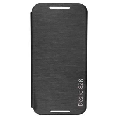 HNY's Flip Cover For HTC Desire 826 (Black)