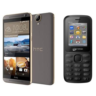 HTC One E9 Plus (Meteor Grey) With Micromax Joy X1800 Dual SIM Free