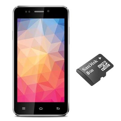 IBall Andi 5k Sparkle (Black) With Free SanDisk 8 GB Memory Card