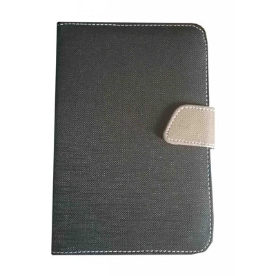 J & A Universal Flip Cover For Mitashi Play BE-101 (Black & Grey)