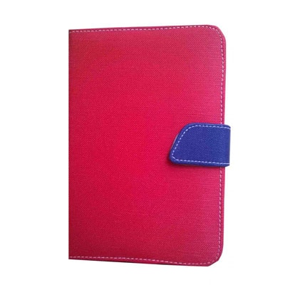 J & A Universal Flip Cover For Mitashi Play BE-101 (Red & Blue)