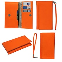Jo Jo A5 G8 Leather Pouch For Byond B66 (Orange)