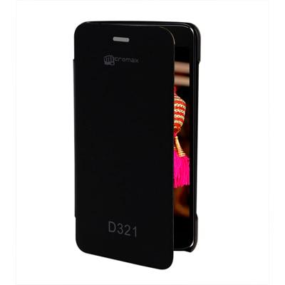 KolorEdge Flip Cover For Micromax Bolt D321 (Black)