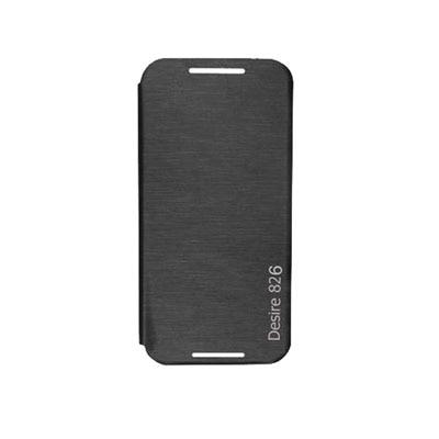 Mobssories Flip Cover For HTC Desire 826 (Black)