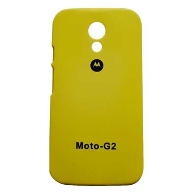 Motorola Back Cover For Motorola Moto G 2nd Gen Xt1068 (Yellow)