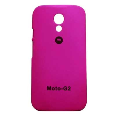 Motorola Back Cover For Motorola Moto G 2nd Gen Xt1068 (Pink)