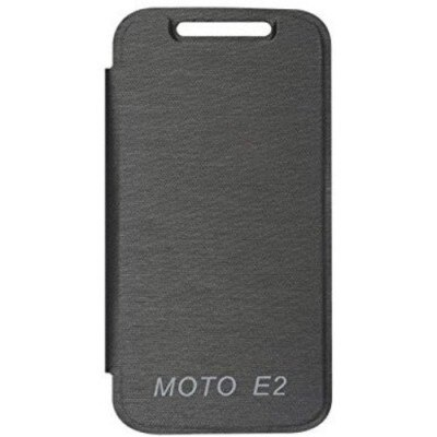 Motorola Flip Cover For Motorola Moto E2 (Black)