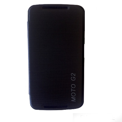 Motorola Flip Cover For Motorola Moto G2 (Black)