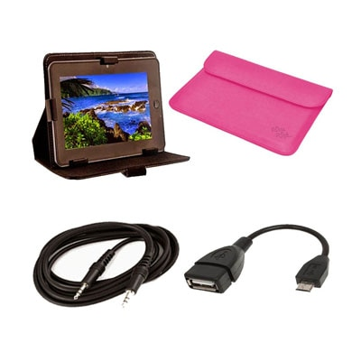 Mydress Mystyle Flip Cover For BSNL Penta Ws 802c 7 Inch Tablet (Black) With AUX Cable And OTG Cable