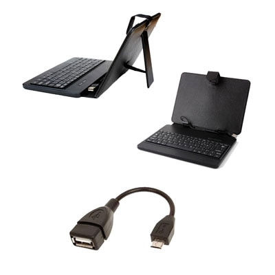 Mydress Mystyle Keyboard Case And OTG Cable For Mitashi Play Be 150 (Black) With OTG Cable