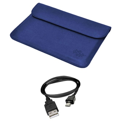 Mydress Mystyle Sleeve Case For Iball Slide 3G 9728 (Blue) With Data Cable