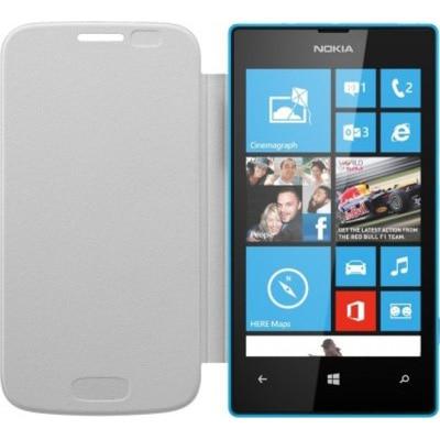 Om Flip Cover For Microsoft Lumia 435 (White)
