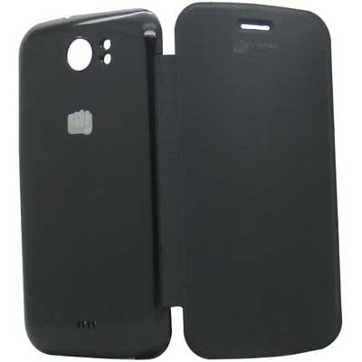 Parco Flip Cover For Micromax Canvas2 A110 (Black)