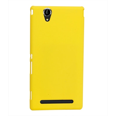 RDcase Back Case For Sony Xperia T2 Ultra (Yellow)