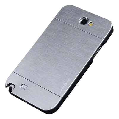S8F Luxury Motomo Back Cover For Samsung Galaxy Note2 N7100 (Silver)