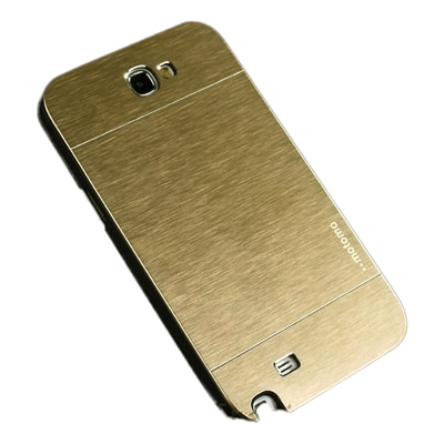 S8F Luxury Motomo Back Cover For Samsung Galaxy Note2 N7100 (Golden)
