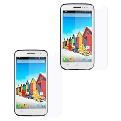Saadgi Collection Clear Screen Guard For Micromax Canvas A110/114 (Set Of Two)