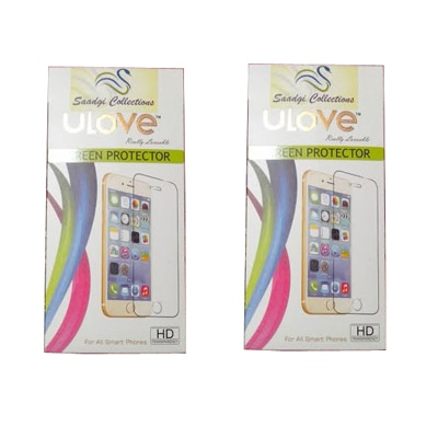 Saadgi Collections Scratch Less Screen Guard For Micromax A114 Canvas 2.2 (Pack Of 2)