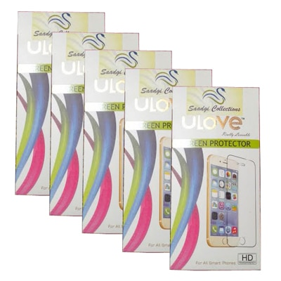 Saadgi Collections Scratch Less Screen Guard For Micromax Canvas A110 (Pack Of 5)