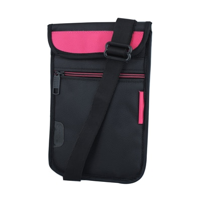 Saco Soft Durable Pouch For Swipe 3D Life Tab X74 3D (Pink & Black)