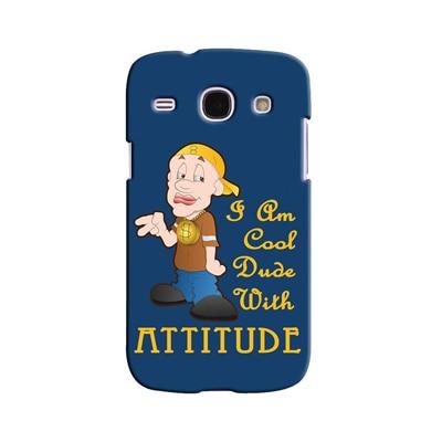 Snooky Digital Print Hard Back Case Cover For Samsung Galaxy Galaxy Core I8262 (Blue) - 6307555