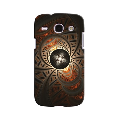 Snooky Digital Print Hard Back Case Cover For Samsung Galaxy Galaxy Core I8262 (Brown)
