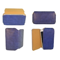 TOTTA PU Leather Hand Pouch For Celkon A119Q Signature HD (Blue)