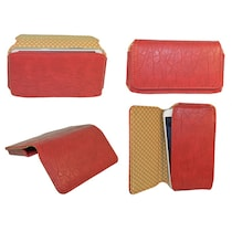 TOTTA PU Leather Hand Pouch For Celkon A119Q Signature HD (Red)