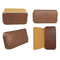 TOTTA PU Leather Hand Pouch For Celkon A119Q Signature HD (Brown)