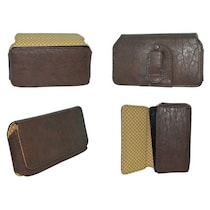 TOTTA Universal PU Leather Holster For Celkon A119Q Signature HD (Brown)