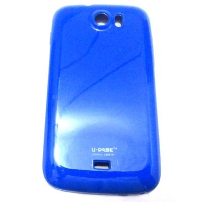 U CASE Back Cover For Micromax Canvas2 A110 (Blue)