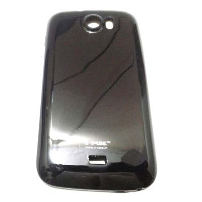 U CASE Back Cover For Micromax Canvas2 A110 (Black)