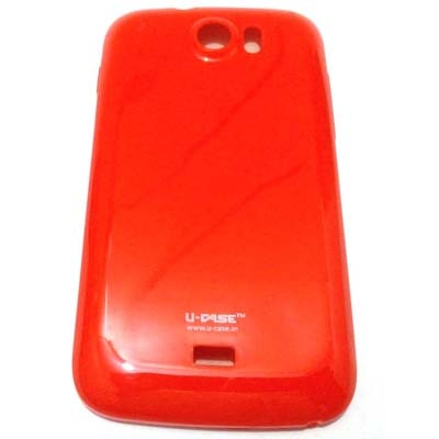 U CASE Back Cover For Micromax Canvas2 A110 (Red)