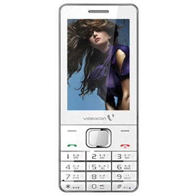 Videocon V-Style Mega Dual Sim Mobile Phone (White)
