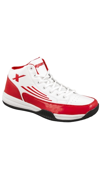 Sparx White And Red Sports Shoes (Size-9)