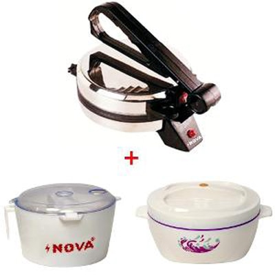Nova N124 Roti Maker With Atta Maker & Casserole