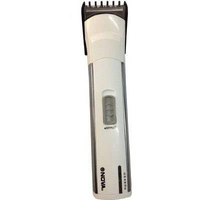 Nova NHT 1013 Trimmer For Men (White And Silver)