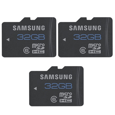 Samsung MB-MSBGB/IN 32 GB Class 6 (PACK OF 3)