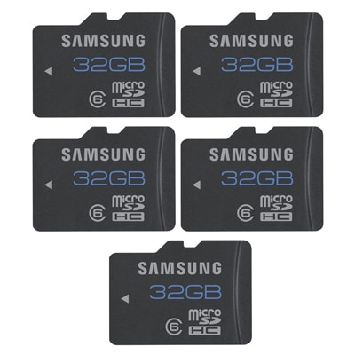 Samsung MB-MSBGB/IN 32 GB Class 6 (PACK Of 5)