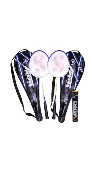 2 Silver's Junior Jb-909 Badminton Rackets With 2 Individual Full Covers(Assorted)